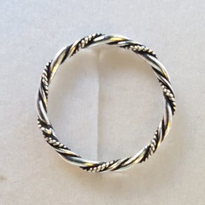 Silver Twisted Ring - Thyme for U