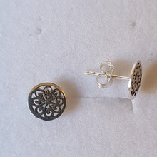 Load image into Gallery viewer, Silver Small Circular Knot Studs - Thyme for U