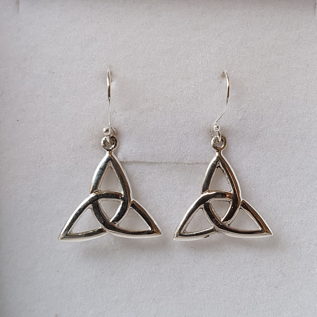 Silver Trinity Knot Triquetra Earrings - Thyme for U