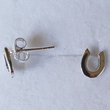 Load image into Gallery viewer, Silver Horseshoe Studs - Thyme for U