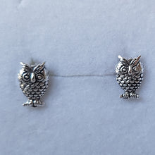 Load image into Gallery viewer, Silver Owl Studs - Thyme for U