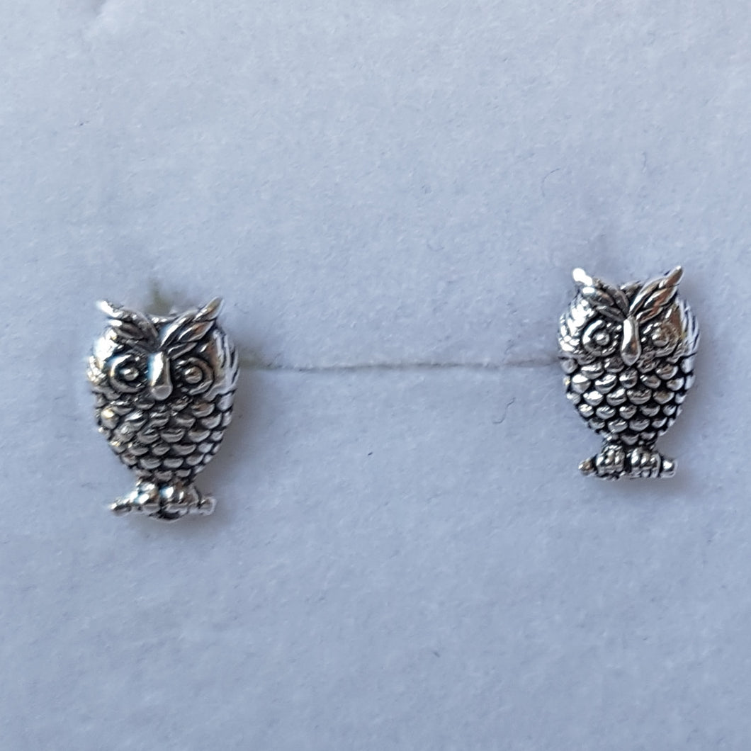 Silver Owl Studs - Thyme for U