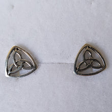 Load image into Gallery viewer, Silver Trinity Knot Triquetra Studs - Thyme for U