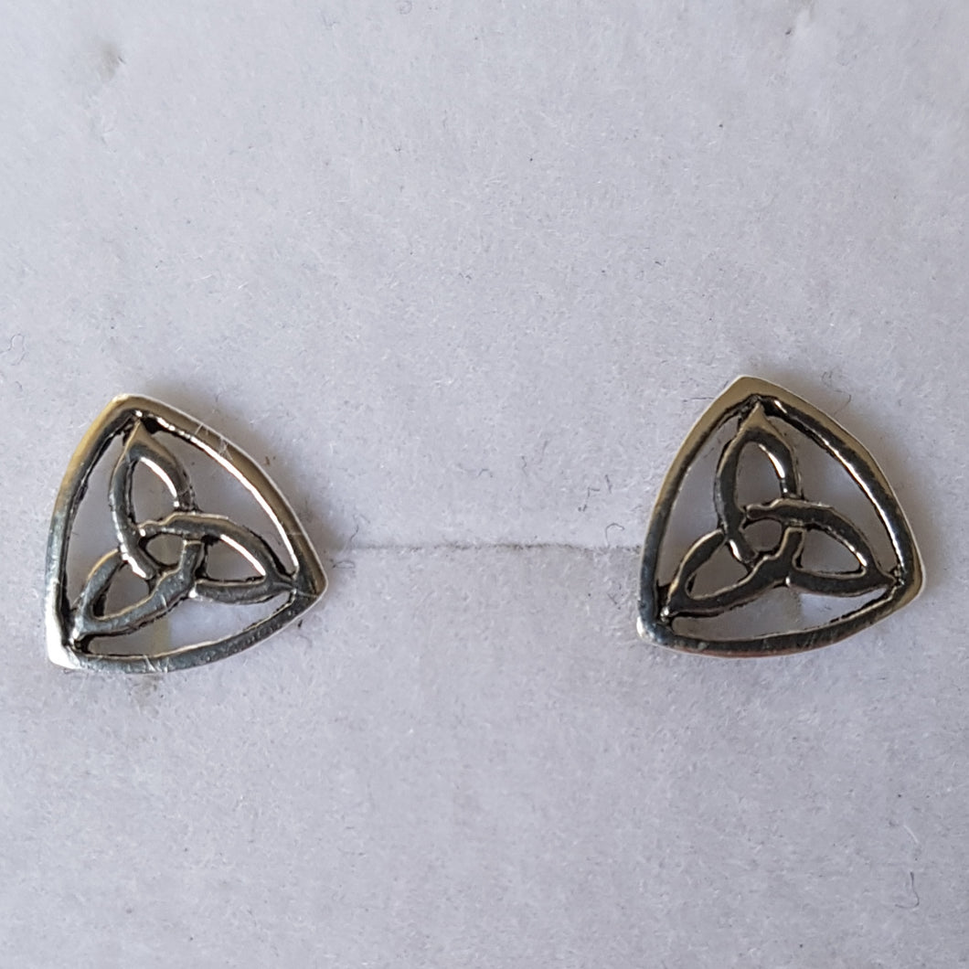 Silver Trinity Knot Triquetra Studs - Thyme for U