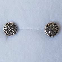 Load image into Gallery viewer, Small Silver Circular Celtic Knot Studs - Thyme for U
