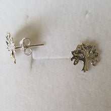 Load image into Gallery viewer, Silver Knotted Tree of Life Studs - Thyme for U