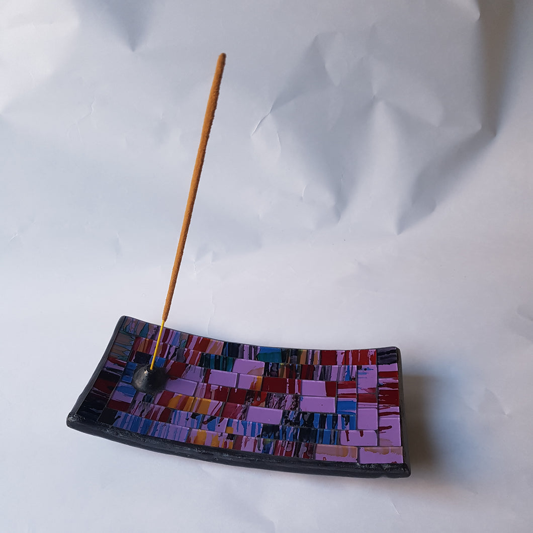 Purple Mosaic Incense Plate - Thyme for U