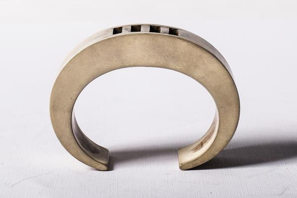 Crescent 4-Bar Punchout Bracelet in Ultra Acid Silver