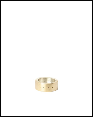 4-Hole Sistema Ring in Matte Brass and Silver