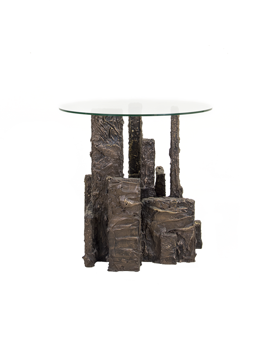 Brutalist Resin Side Table
