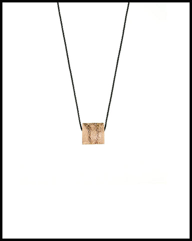 Ceramic Cube Necklace with Gold Luster