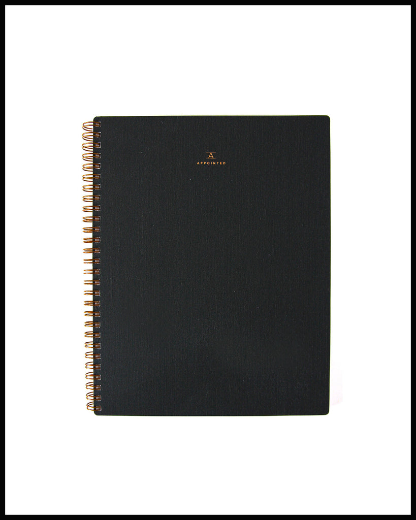 Charcoal Notebook with Bookcloth Cover