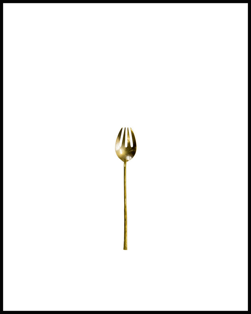DINNER FORK IN HAND FORGED BRASS