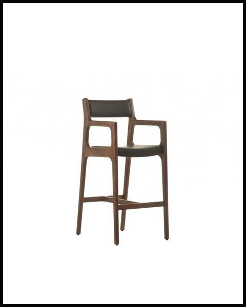 Deer Bar Stool with Arms