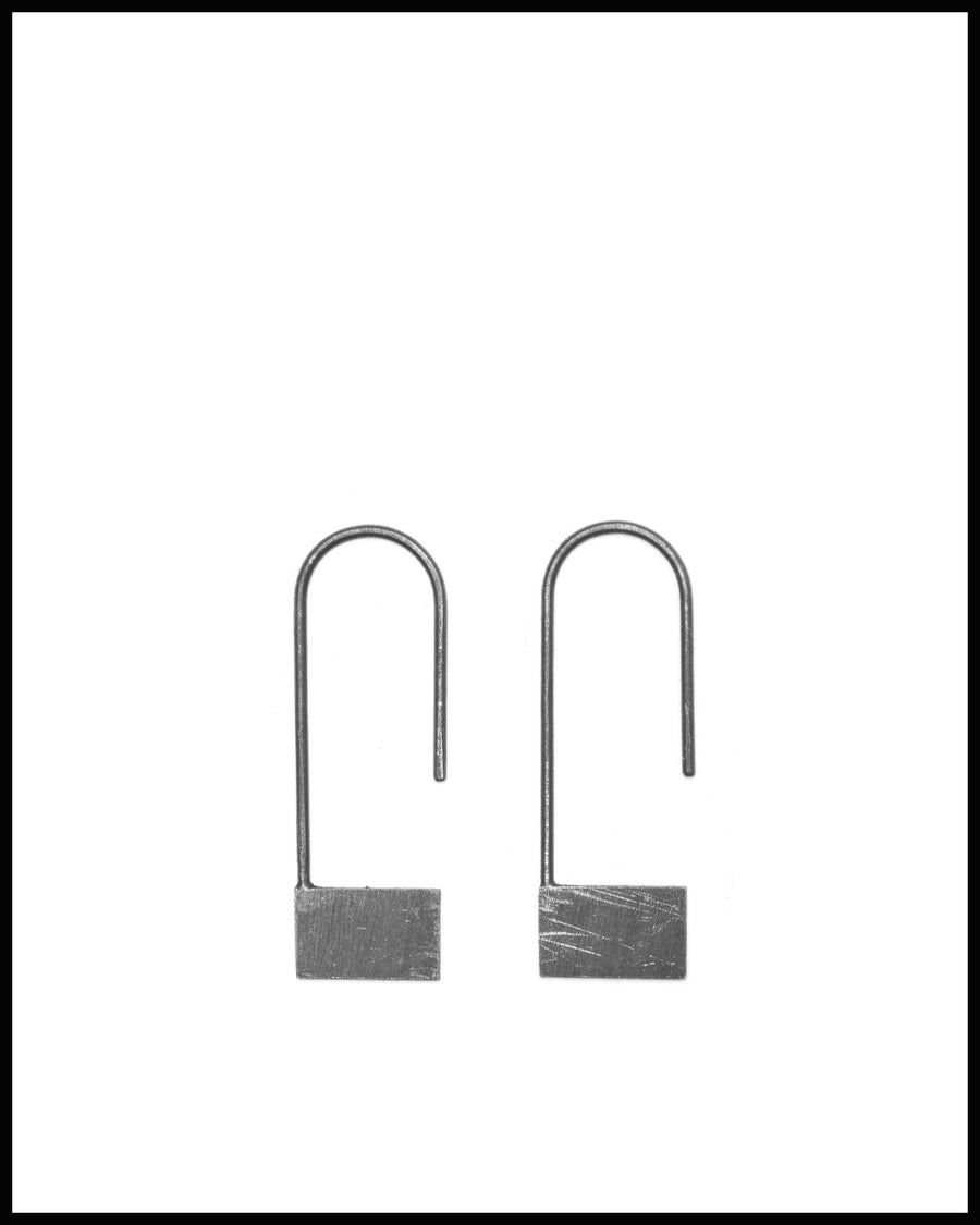 Rectangle Pendant Earrings