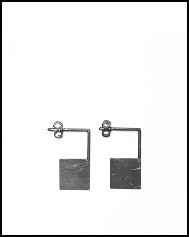 Geometric Square Earrings