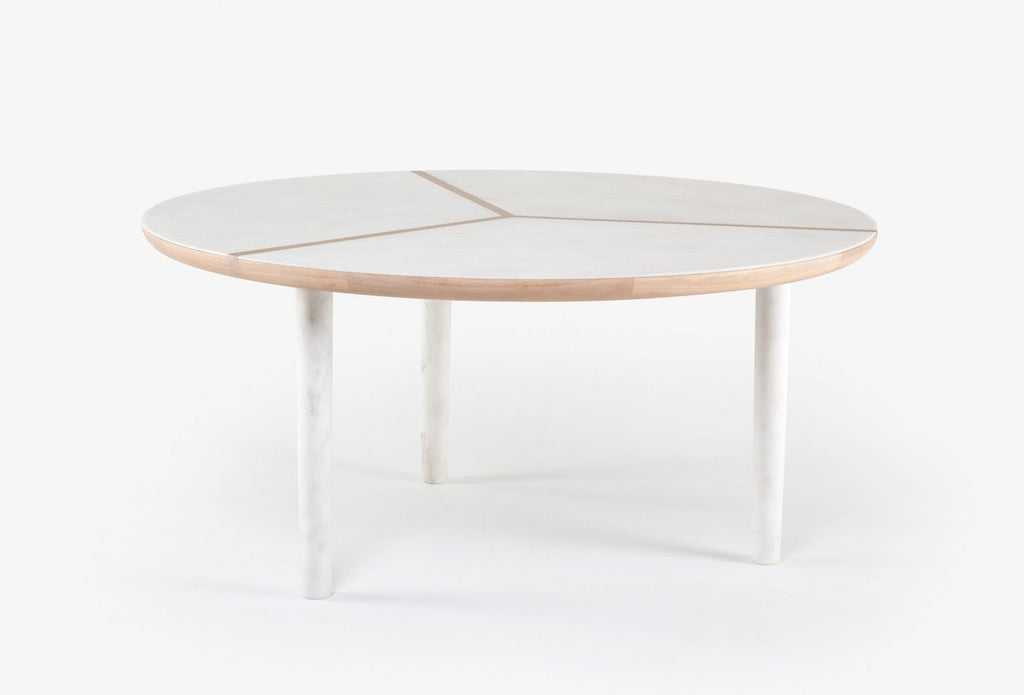 Marlon Round Table with Marble Top
