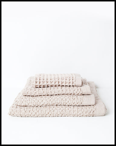 Lattice Towel Beige