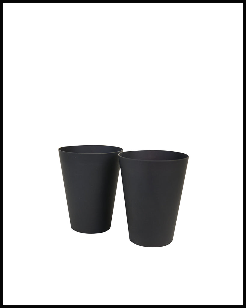 PAIR OF HIGH BALL GLASSES IN MATTE BLACK