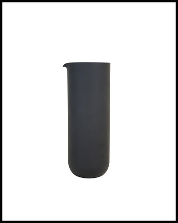 GLASS PITCHER IN MATTE BLACK
