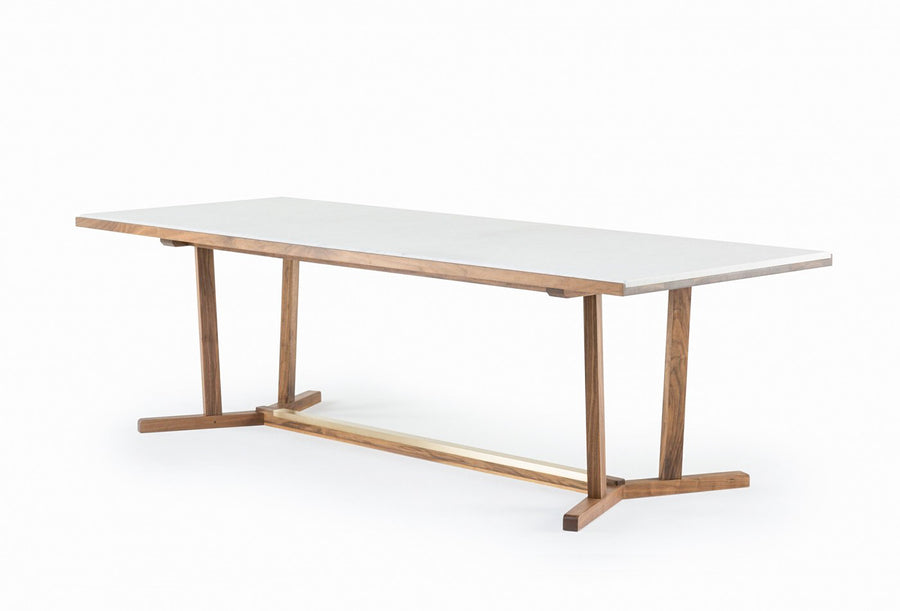 Shaker Dining Table with Marble Top