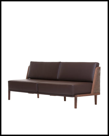 Throne Sofa with Rattan