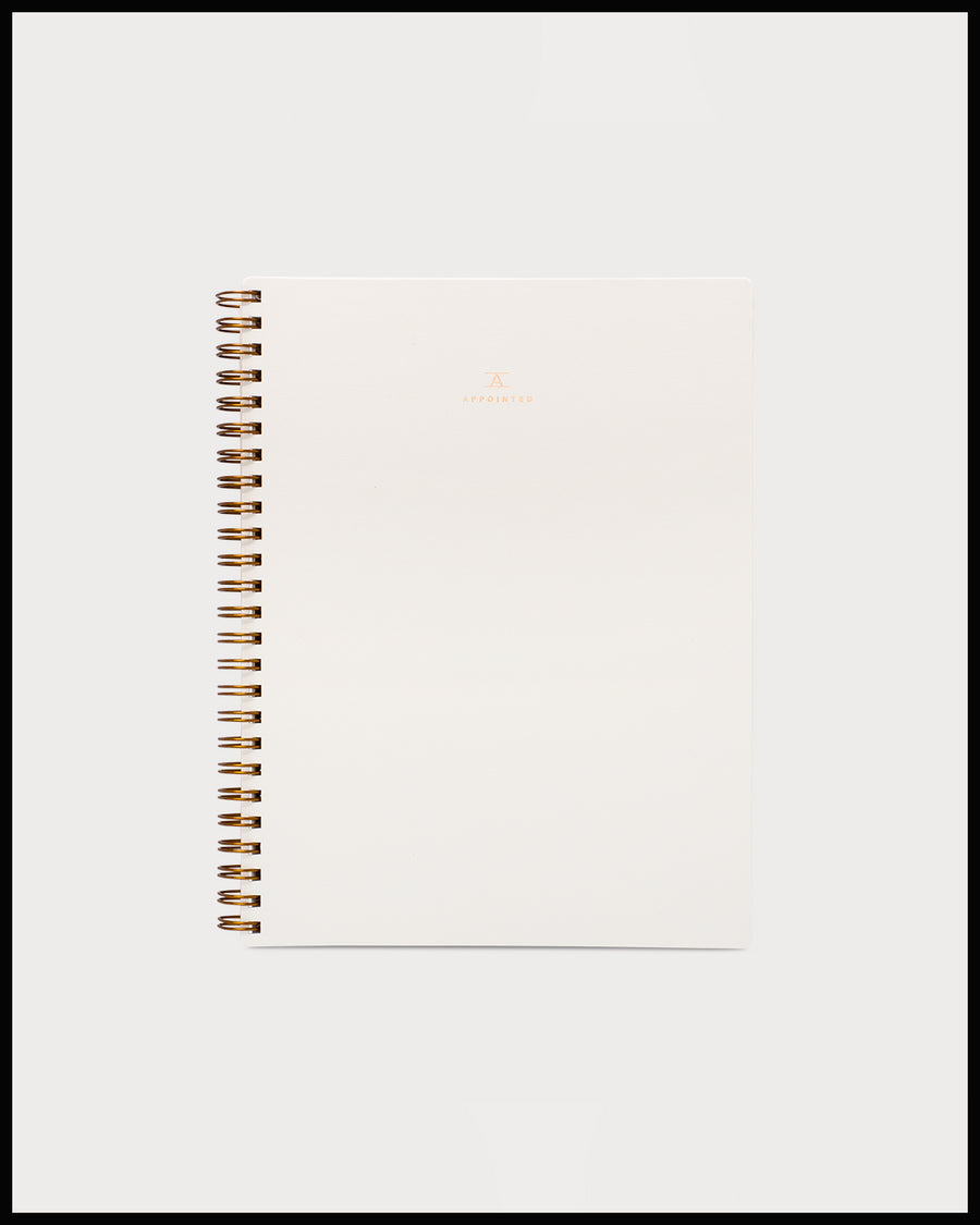 Cream Notebook with Bookcloth Cover