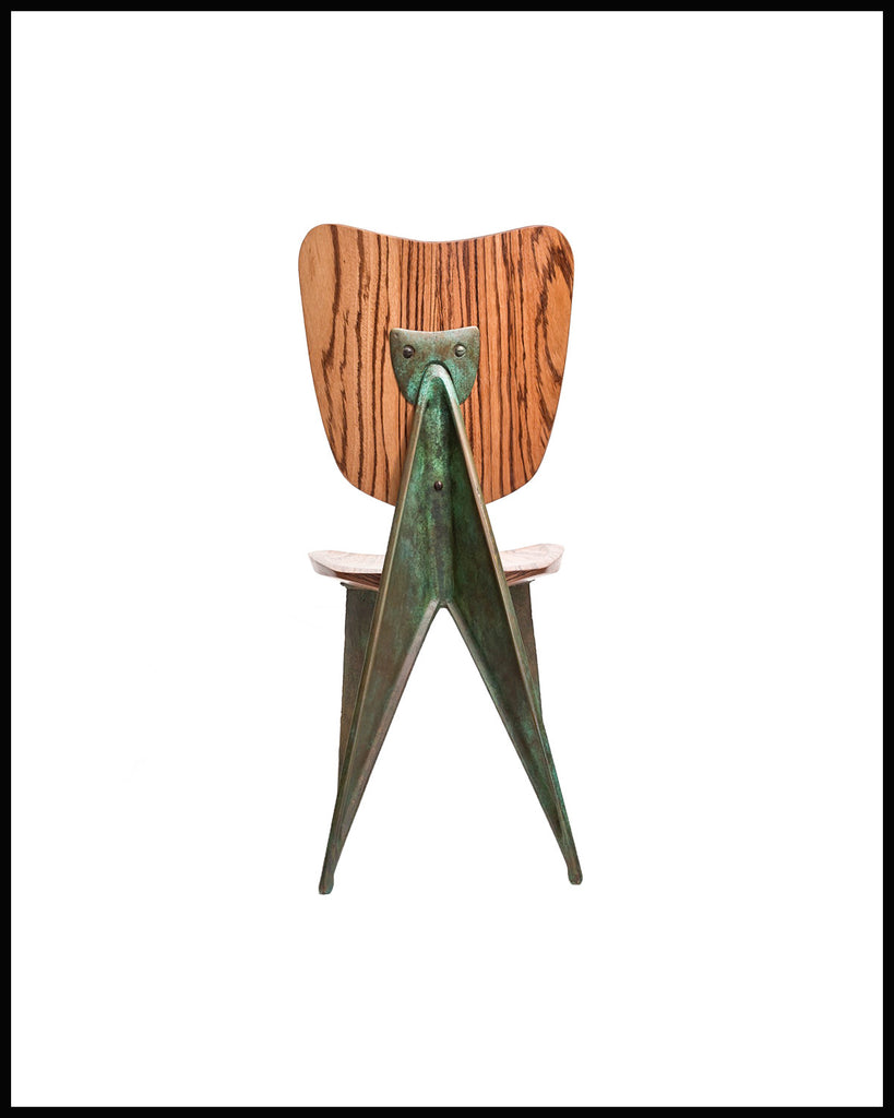 Bat Chair with Bronze Legs