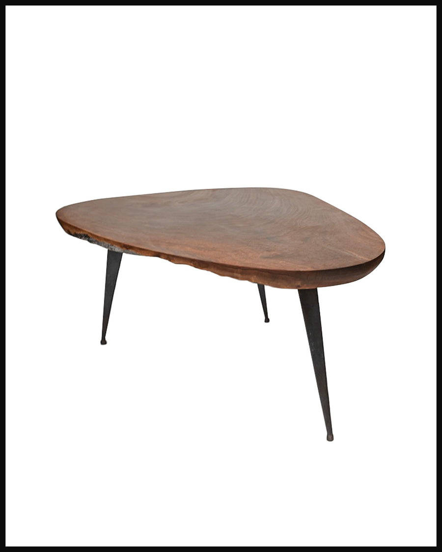 Freeform Table with Bronze Legs