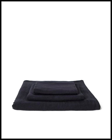 Gauze Towel in Black
