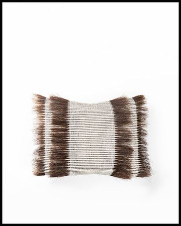 Woven Horsehair Throw Pillow 12