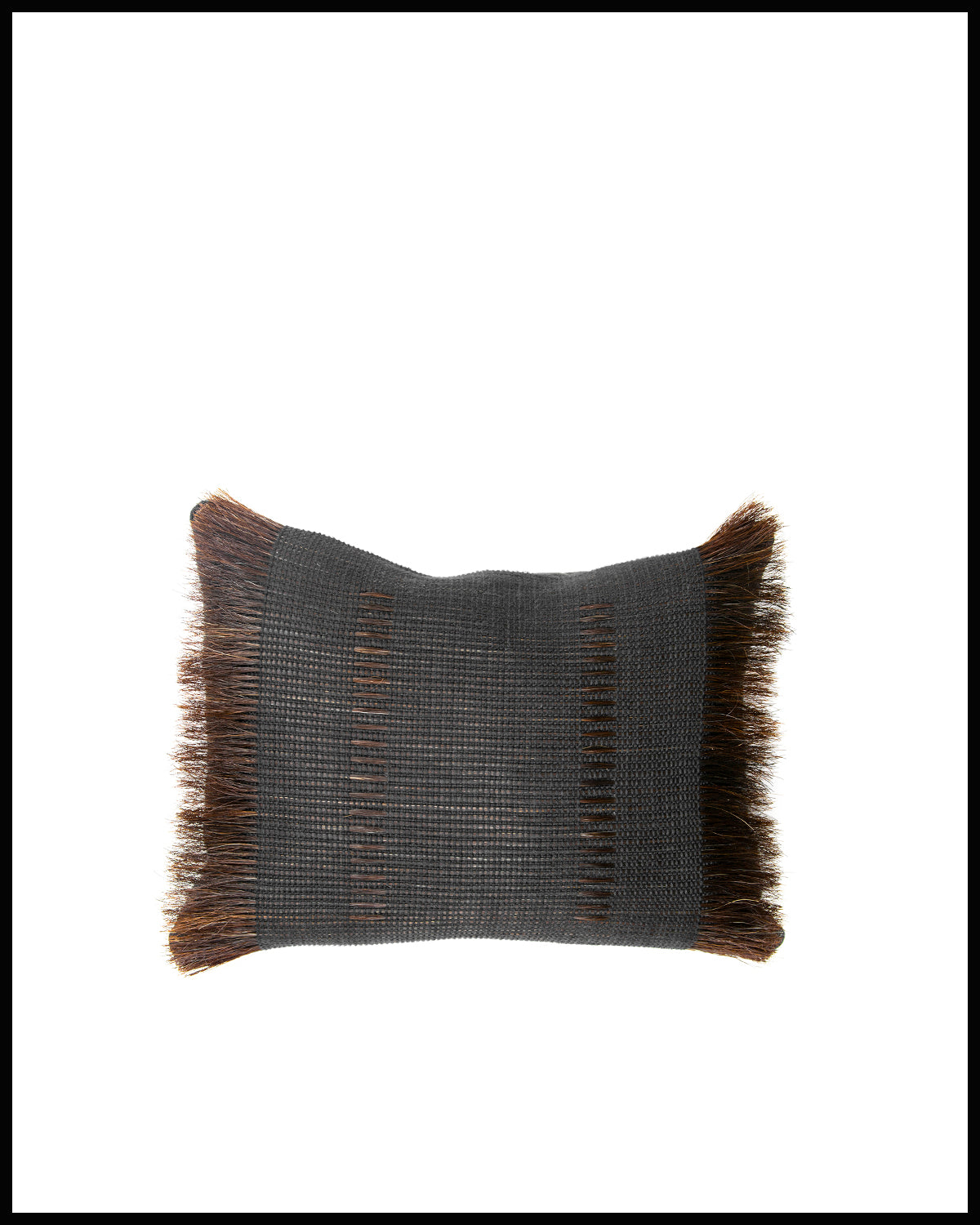 "Woven Horsehair Throw Pillow 12"" x 16"""