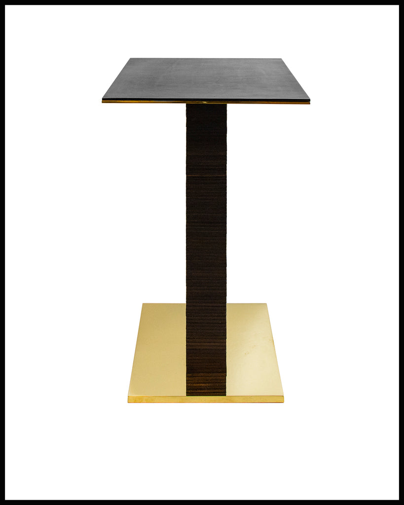 Infinity Stacked Leather Side Table by Christopher Kreiling