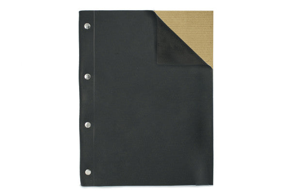 Leather Notebook Large Black