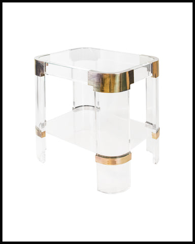 CHARLES HOLLIS JONES VINATGE LUCITE SIDE TABLE