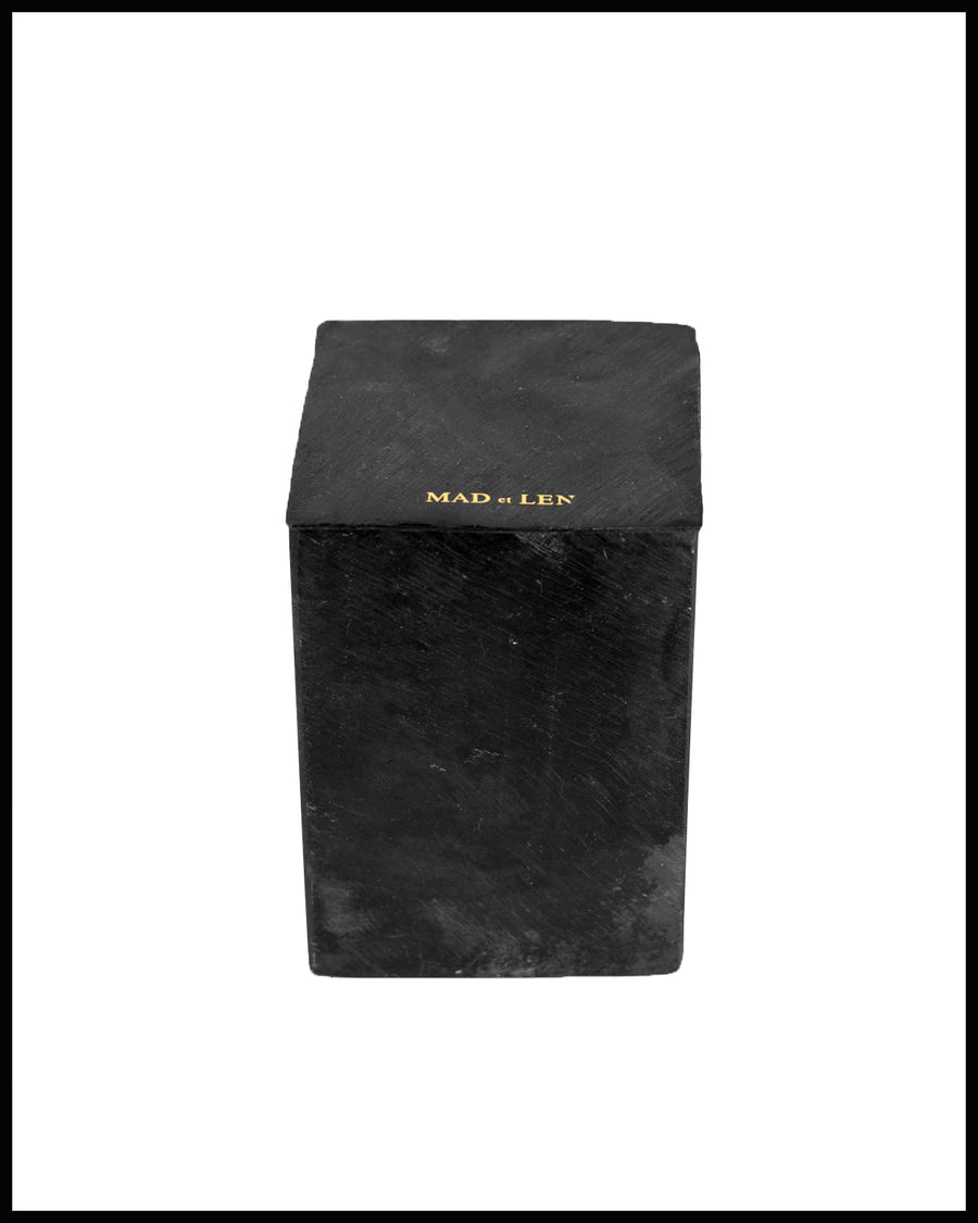 Bougie Black Block - Ambre Nobile