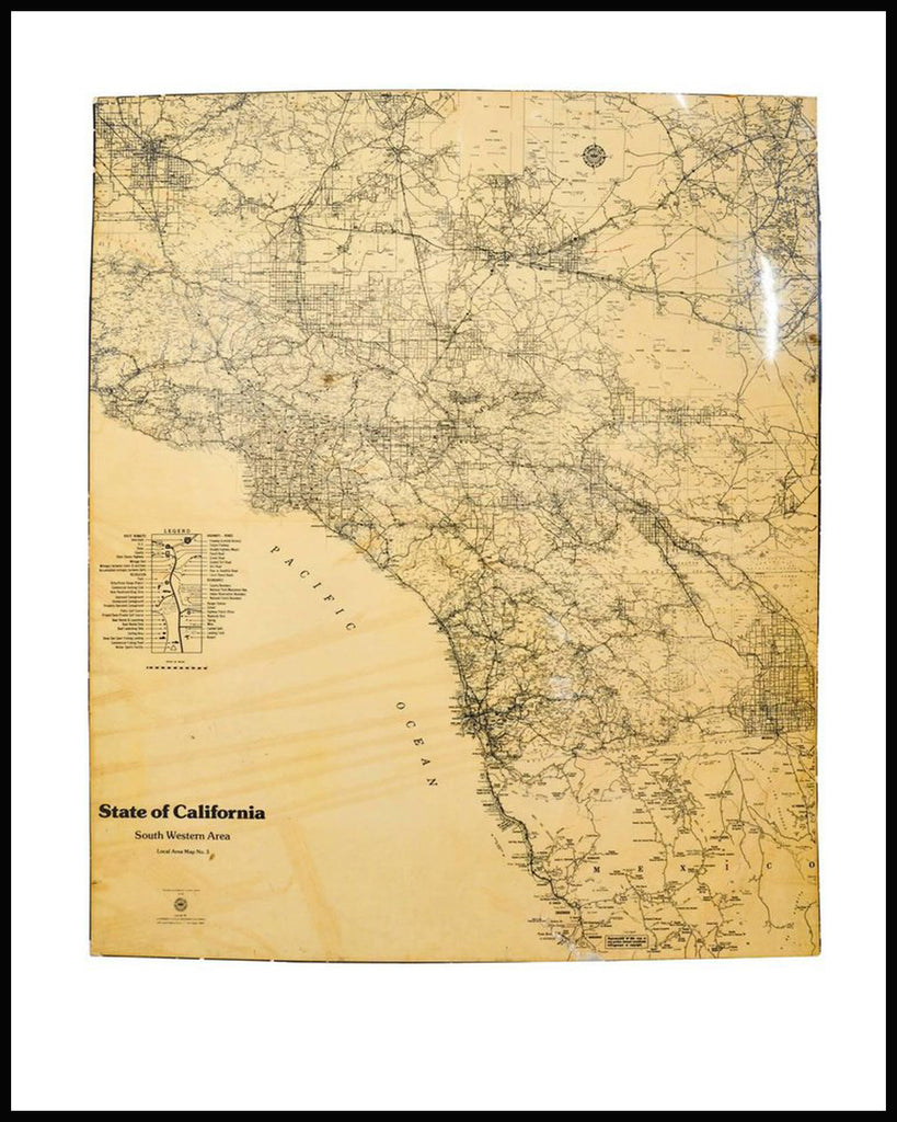 Aaa California Map.Map Of California South Western Area By Aaa Automotive Club Hammer
