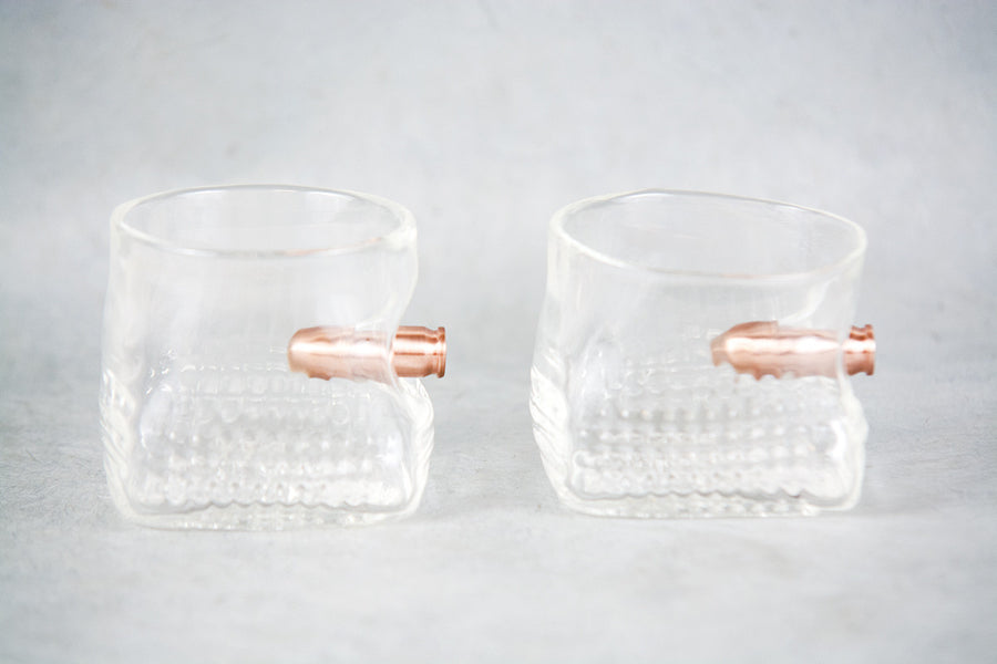.45 Copper Bullet Glass Cup