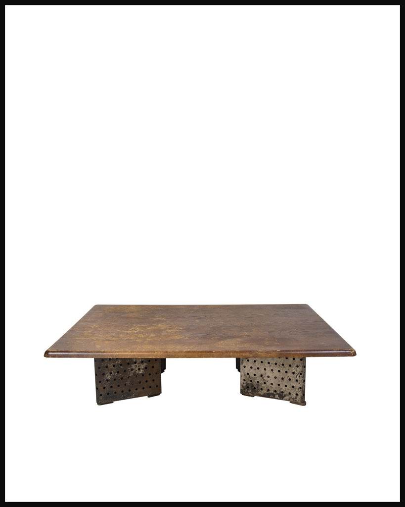 Vintage Escande Perforated Steel Table