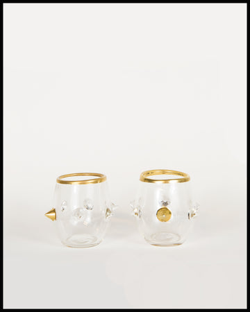 Pair of Single Gold Spike Glasses