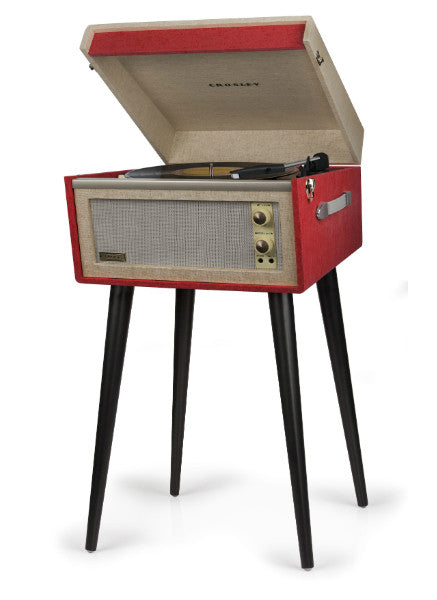 Red Retro Turntable With Legs