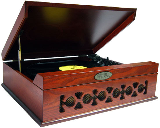 winston mahogany brown usb record player