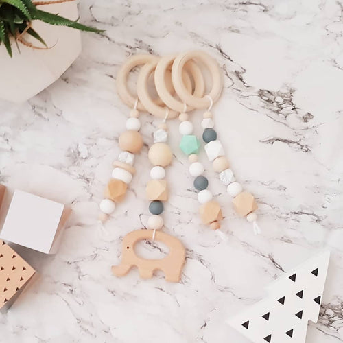 Beaded Baby Gym Toys | Elephant