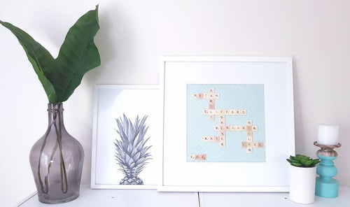 Scrabble Family Frame | Personalised | Large.