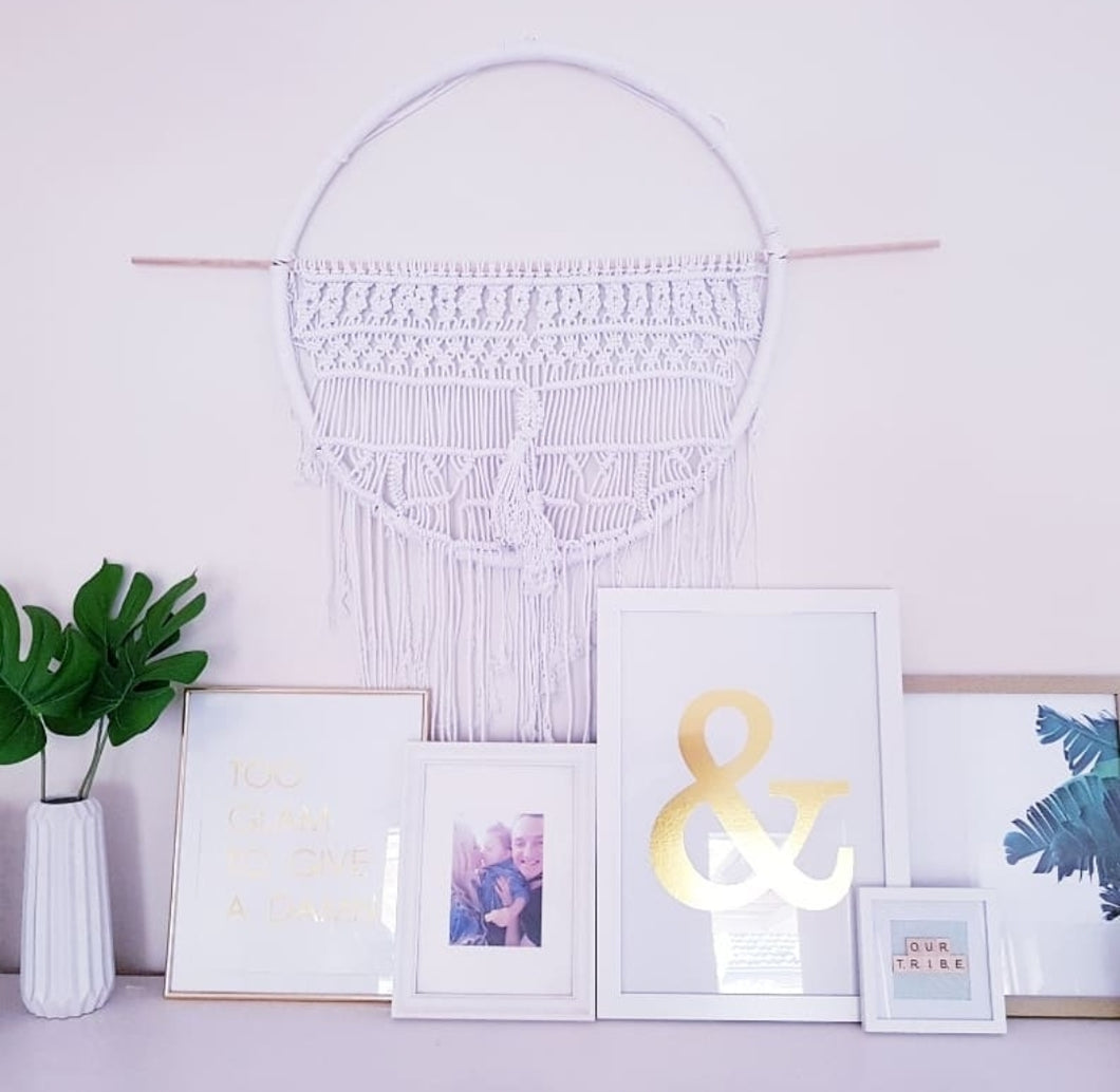 Macrame wall hanging | Round tribal