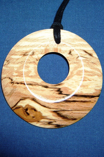 Spalted beech pendant