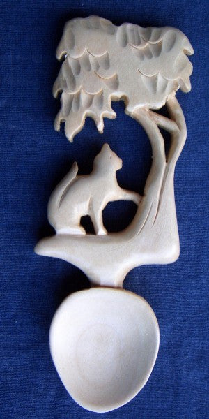 Cat and Tree Love spoon