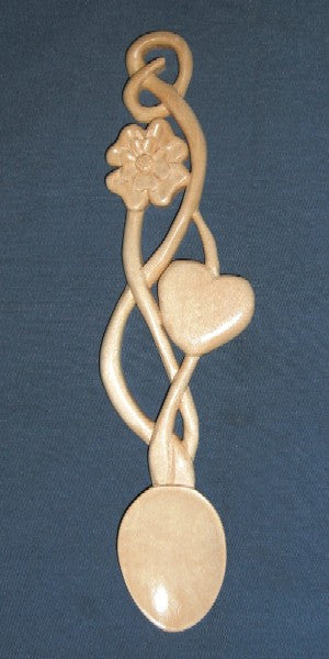 Rose and heart love spoon(large)