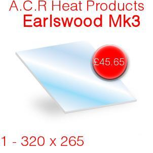 A.C.R Heat Products Earlswood Mk3 Stove Glass - 320mm x 265mm