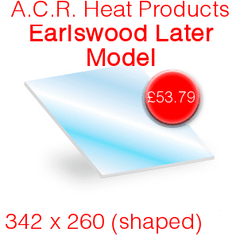 A.C.R Heat Products Earlswood (Shaped) Later Model Stove Glass - 342mm x 260mm